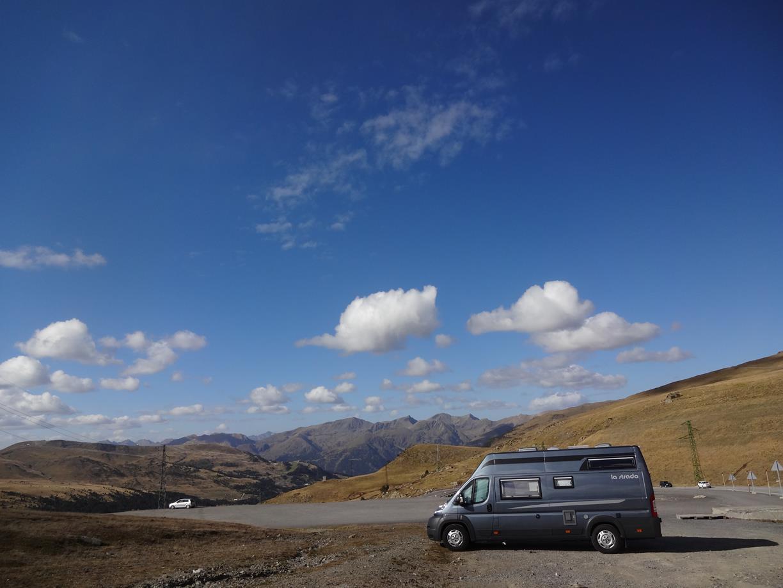 Över Andorra bergspass