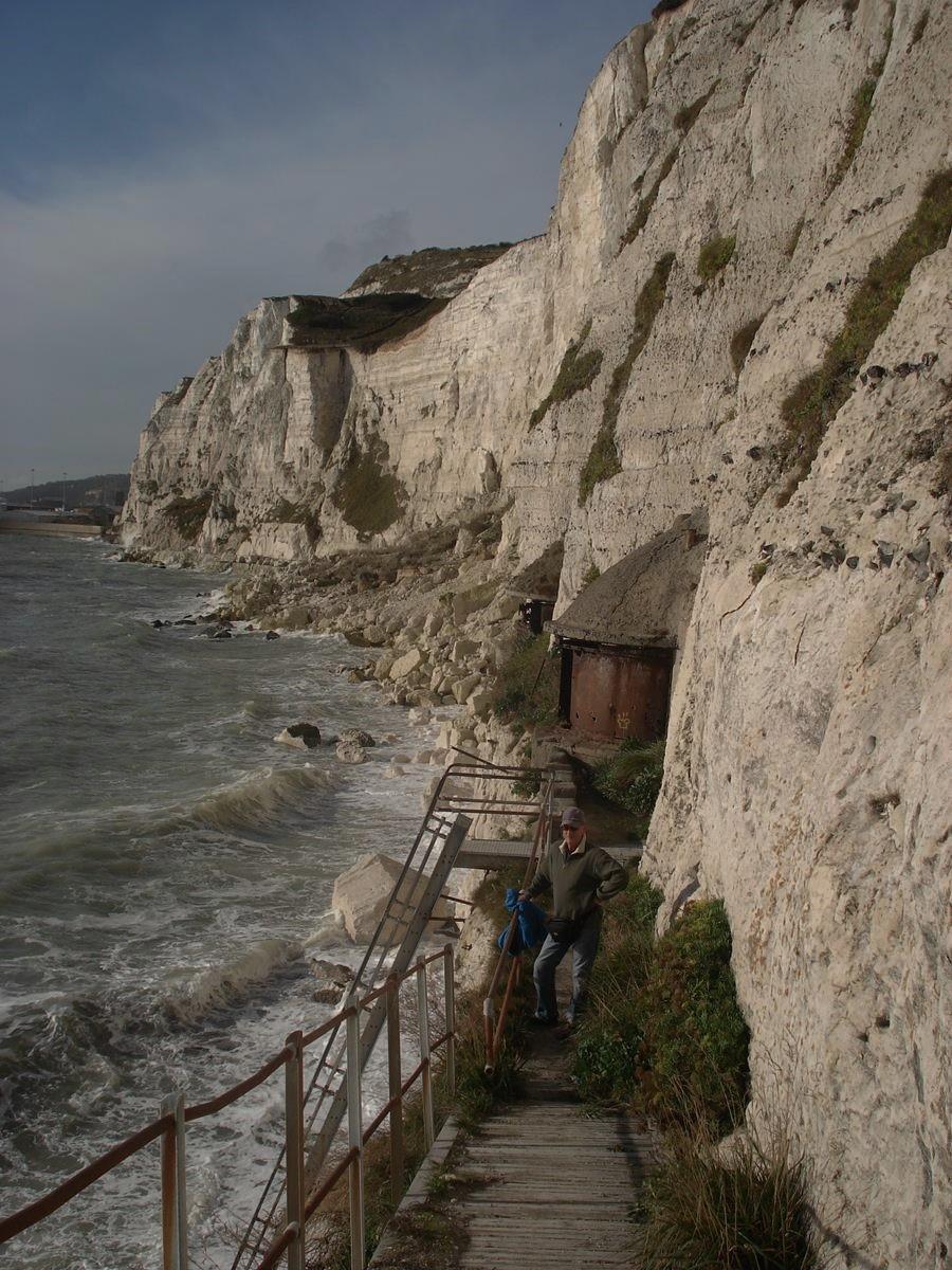 Befästning i Dover klippan